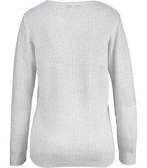 glittrande tröja dress in vit