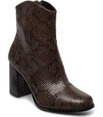 vmnatti boot shoes boots ankle boots ankle boot - heel brun vero moda