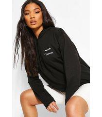 'wear me' slogan hoodie, black