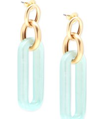 iridescent resin links drop earring