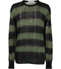 golden goose sweater algar mohair stripes