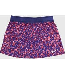 falda morado-coral-blanco nike court dri fit