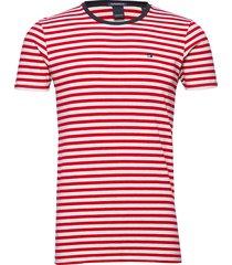 classic cotton/elastane crewneck tee t-shirts short-sleeved röd scotch & soda