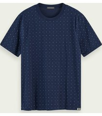 scotch & soda 100% cotton short sleeve crewneck t-shirt