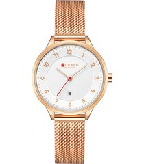 curren womens ultra thin quartz orologi classic luxury steel strap life orologi impermeabili di lusso