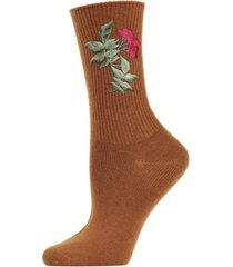 berry vintage-like women's crew socks