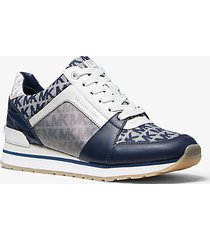 mk sneaker billie tricolore con logo - navy/bianco (blu) - michael kors