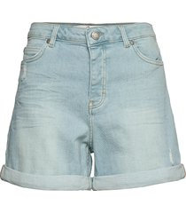 abby 241 destruct sky blue auto shorts denim shorts blå fiveunits