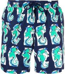 bluemint seahorse-print swim shorts