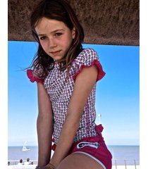 t-shirt plażowo-kąpielowy z filtrem uv50+ flower