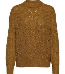 objnova stella l/s knit pullover noos stickad tröja brun object