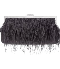 inc elongated feather pouch clutch, created for macy's