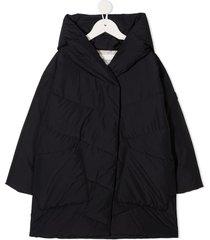 bonpoint longline hooded puffer jacket - blue