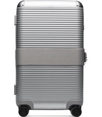 fpm milano bank trunk aluminium suitcase - grey