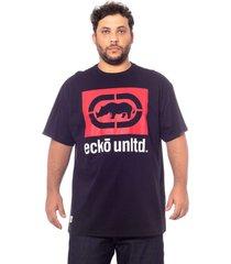 camiseta ecko estampada preta,