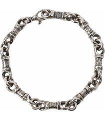 silver barrel link bracelet