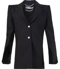 black two-button jacket