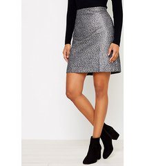 loft petite shimmer jacquard shift skirt
