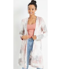 maurices womens pink tie dye duster cardigan