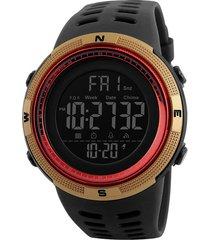 smart watch skmei hombres podómetro cronómetro reloj deportivo impermeable led reloj digital