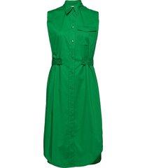 belt detail shirt dress ns knälång klänning grön calvin klein