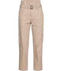 pantaloni cargo paperbag (beige) - rainbow