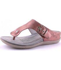 sandalia ceniza rosa chalada