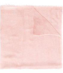 faliero sarti frayed-hem oversized scarf - pink