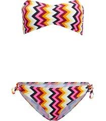 bikini a fascia (set 2 pezzi) (nero) - rainbow