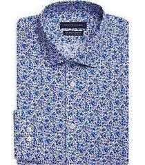 tommy hilfiger blue floral slim fit dress shirt