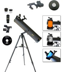 galileo 800mm x 95mm astronomical telescope kit with smartphone adapter and solar filter cap