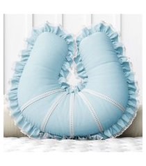 almofada amamentação azul clássico c/ zíper grão de gente azul