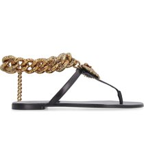 dolce & gabbana leather thong-sandals
