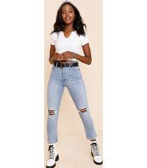 women's levi's® knee hole straight jeans in denim by francesca's - size: 30