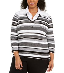 alfred dunner plus size riverside drive layered-look necklace top