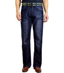 flypaper men's bootcut leg belted jeans