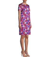 divisu floral print shift dress