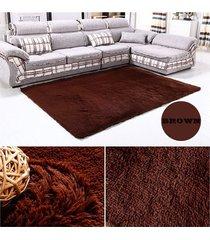 eh alfombra de lana marrón salón dormitorio-café