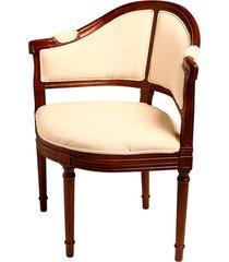cadeira saria de madeira com braço