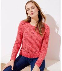 loft marled bobble pointelle sweater
