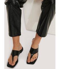 na-kd shoes slip-in-sandal - black