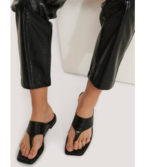 na-kd shoes slip-in-sandal - black