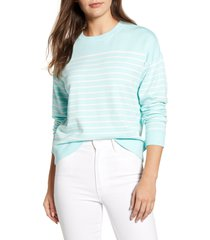 women's vineyard vines dreamcloth stripe sweatshirt, size xx-large - blue