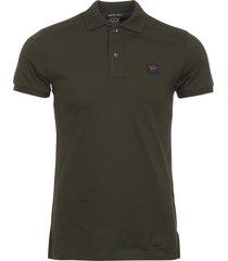 paul and shark green short sleeve polo shirt a17p1703sf-573