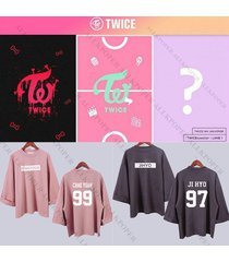 kpop twice sweatershirt ohh ahh wide sleeve sweater coat outwear twicecoaster