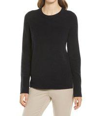 women's nordstrom cashmere sweater, size medium - black