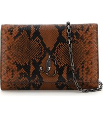 jimmy choo varenne clutch with chain
