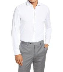 men's boss jason slim fit dress shirt, size 16 - white