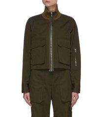 'uniform' canvas bomber jacket