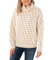 women's kut from the kloth evea cowl neck sweater, size large - beige